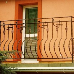 Exterior forged railing