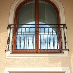 Exterior forged railings