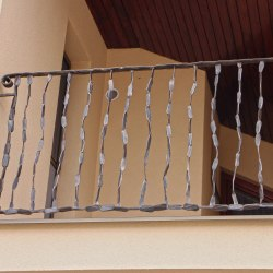 Exterior forged railings - crazy