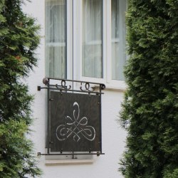 Exterior handrails - a french window