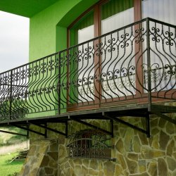 Exterior handrails and grilles