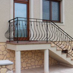 Forged staircase railings