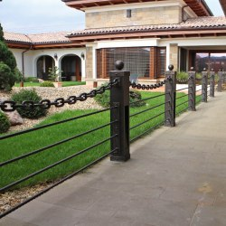 Luxury wrought iron railings with lights