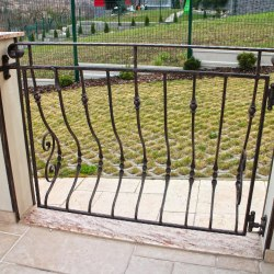 Wrought iron exterior handrails