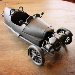 A wrought iron car - artistic work