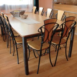 Exclusive wrought iron a table and chairs