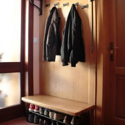 Forged hangers and shoe-rack