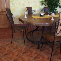 Forged table and chairs
