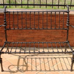 garden forged bench