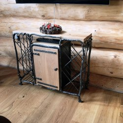 Hand forged chest of drawers for TV and wine
