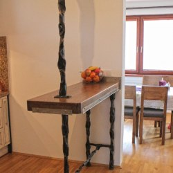 Wrought iron accessories in the kitchen