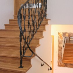 A hand forged railing - Crazy