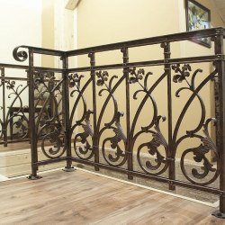 A hand-forged staircase railing - Interior handrails