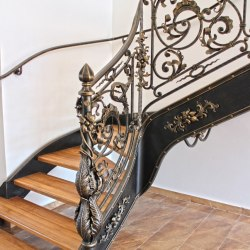 A luxury forged interior railings