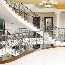 A spiral hand-forged railing - Interior handrails