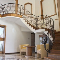 A spiral wrought iron railing - luxury railings