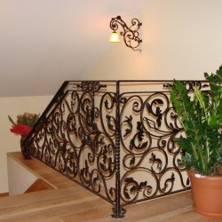 A wrought iron railing for the more demanding customer