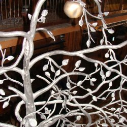 Artistic railing - Tree - a work of art called Temptation - HAPPY END Jasná