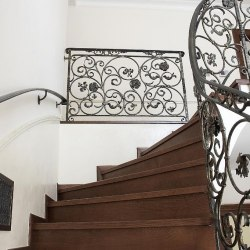 Forged interior handrails - spiral railings