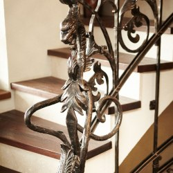 Hand-forged interior handrails