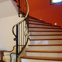 Interior forged handrails