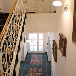 Interior handrails - a historical wrought iron railing