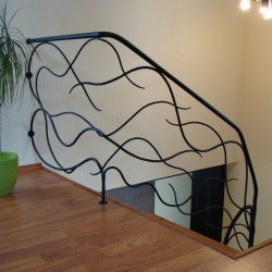 Interior handrails - A wrought iron railing - Feel the breeze