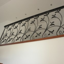 Interior handrails - A wrought iron railing - Lily pattern