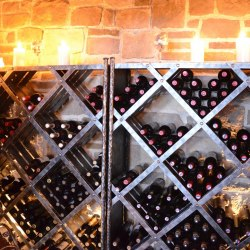Wrought iron wine stands and racks