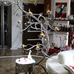 A forged art - a stainless tree